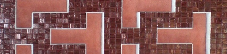 header victoria red mosaic panel