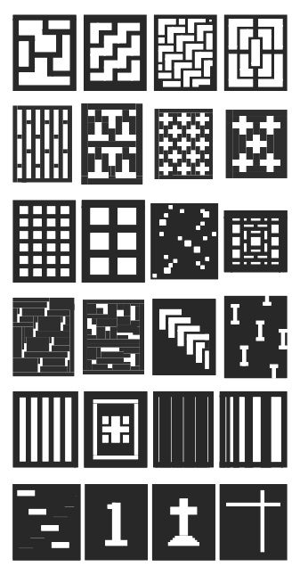 mosaic panel design samples